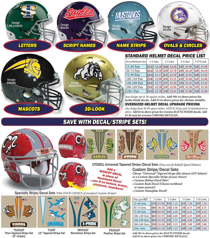 Football Helmet Decals Bumper : Sppss american football helmet decals