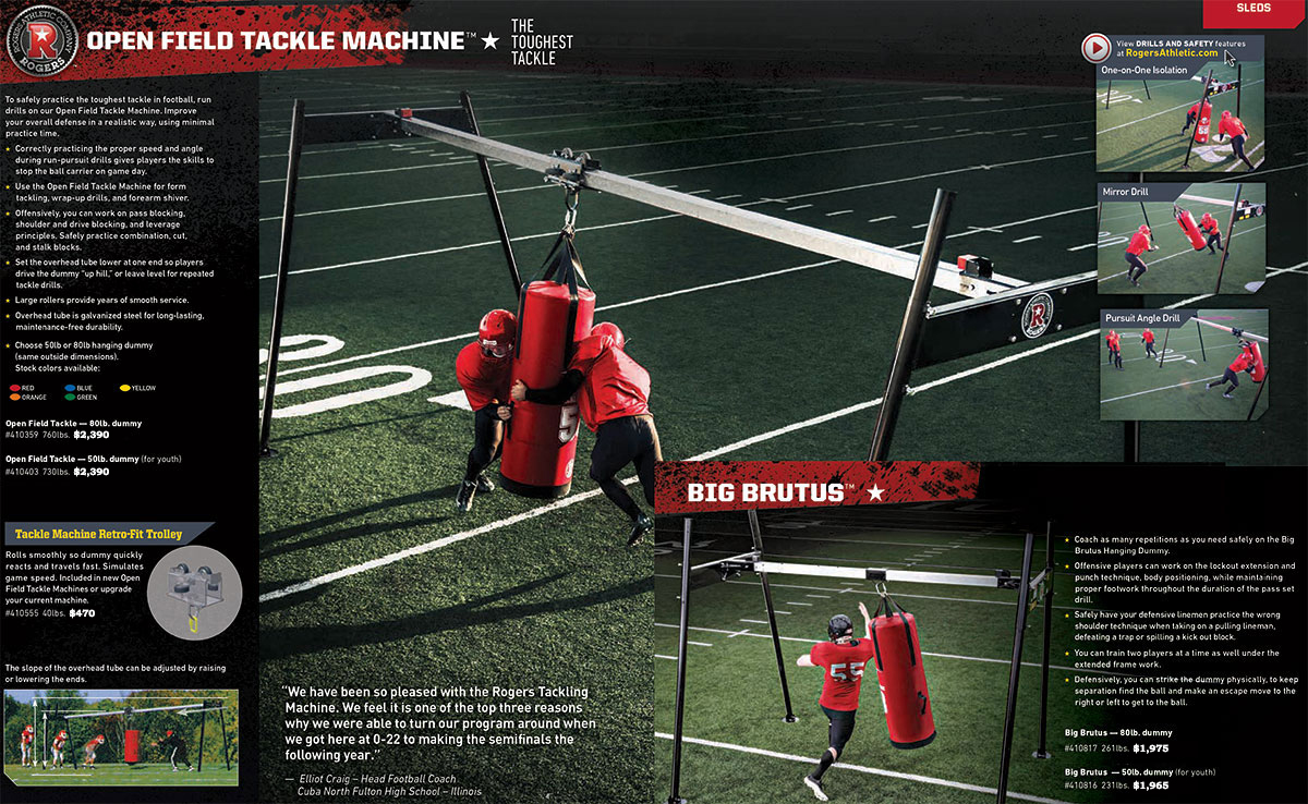 Open Field Tackle Machine