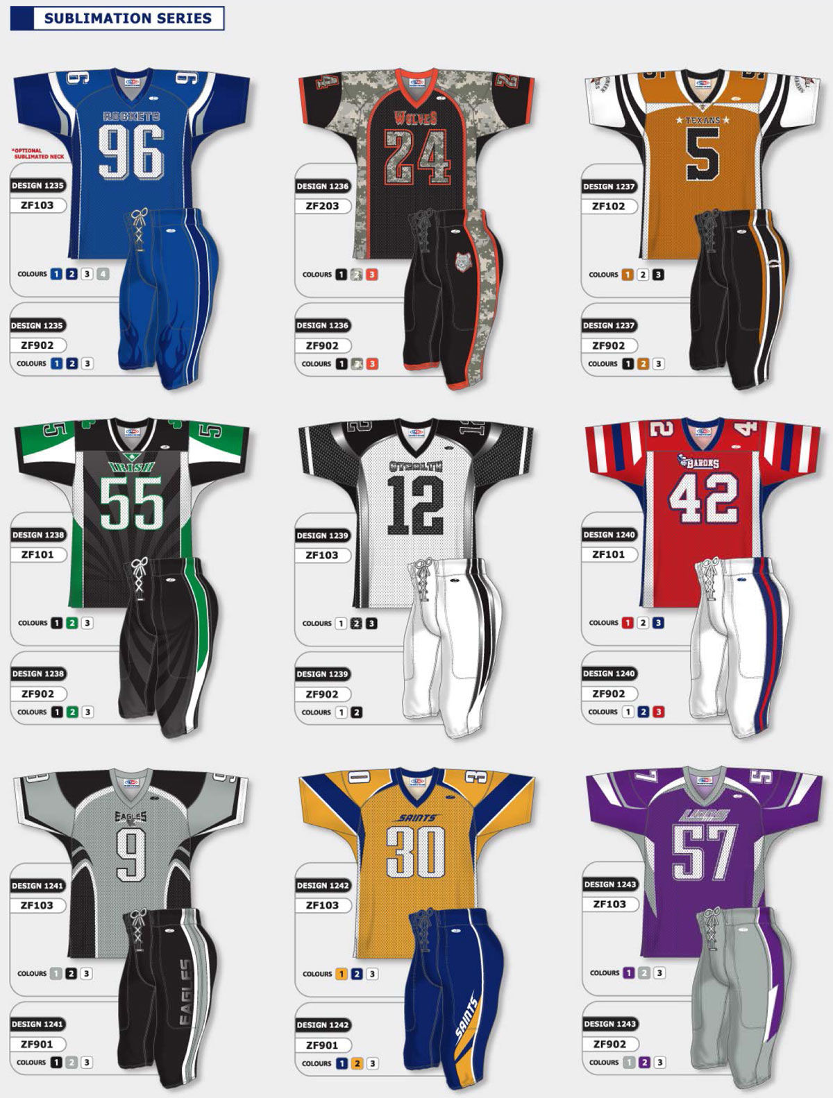 quality design 49fd6 0c1b4 SPPSS - American Football Gridiron Uniforms